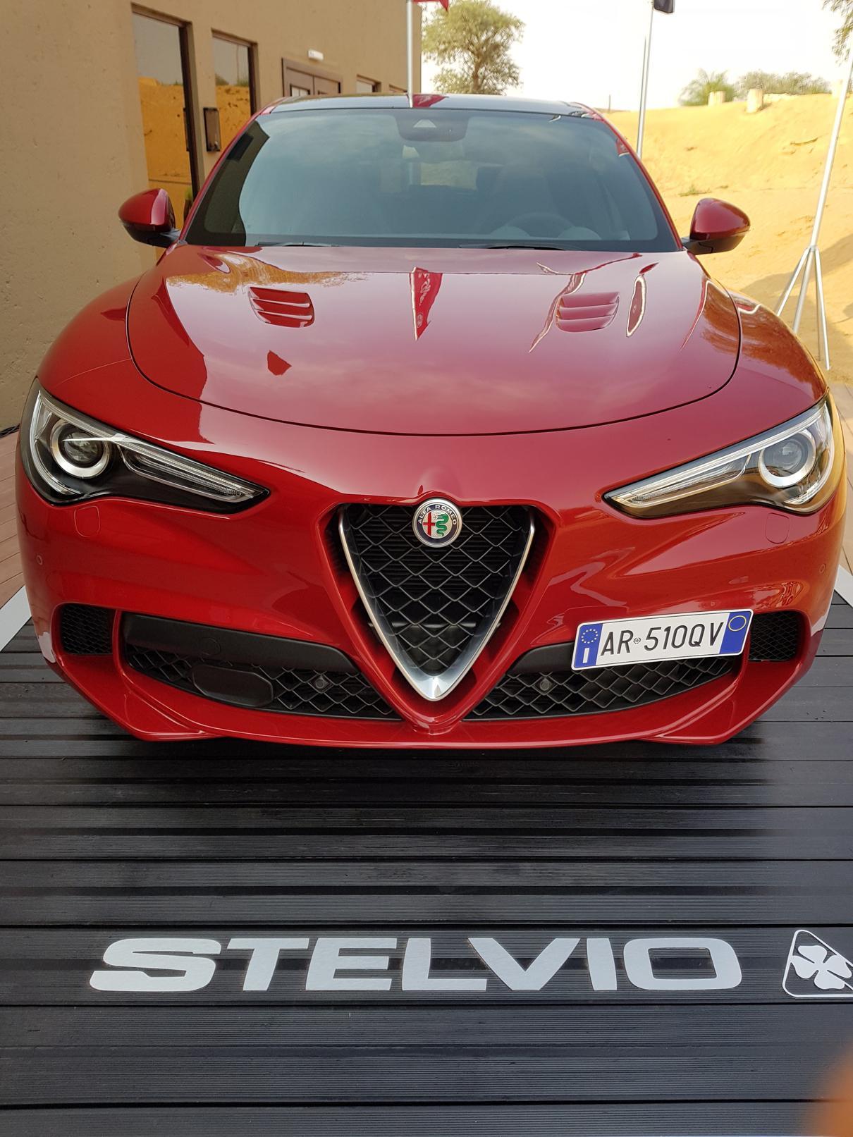 Lancio della nuova Alfa Stelvio a Dubai